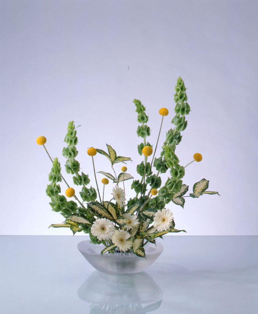 《色彩盛花》草花を主材として構成する盛花