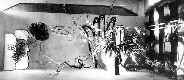 「光と前衛挿花展」
